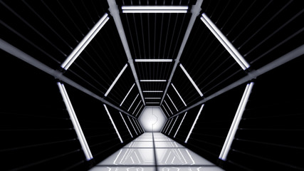Abstract 3D tunnel