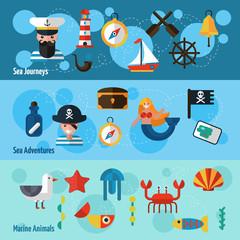 Nautical Banners Set