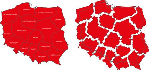 Polish map, state