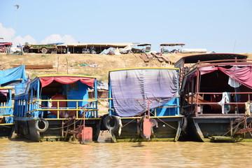 Boote in Kambodscha