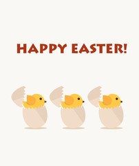 Happy easter cards with easter egg. Vector illustration.