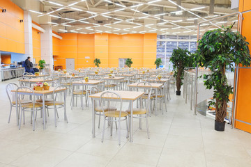 Interior of the cafe in Crocus City Mall.