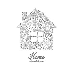 House shaped vector pattern