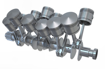 V12 engine pistons