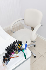 table in manicure room