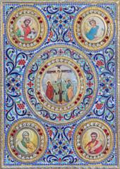 Jerusalem - binding of liturgical book in Syrian church.