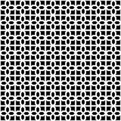 Abstract Decorative Geometric Dark Black & White Pattern