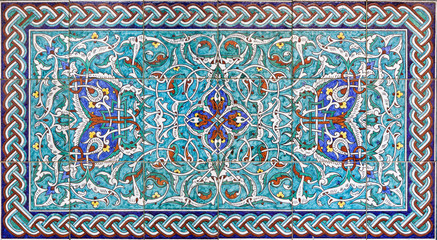 Jerusalem - The tiled decoration in St. James cathedra