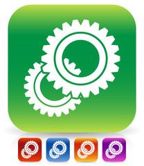 Various gear wheel, rack wheel vector graphics. Mechanics, manuf