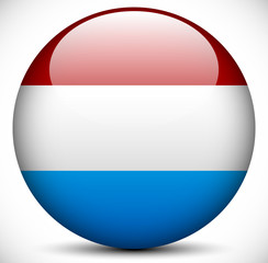 Round Icon with the Flag of Netherlands