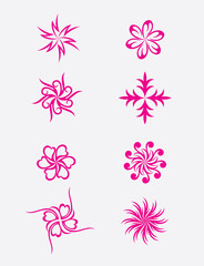 Abstract flower, art vector design