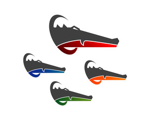 crocodile head logo
