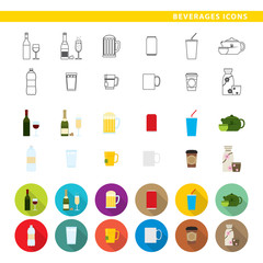 Beverages icons.