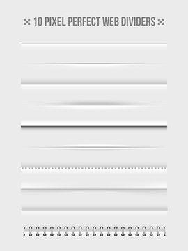 Web dividers design elements