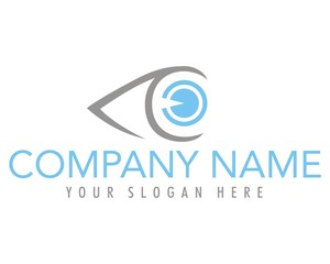 eye sight corneal pupils lens logo image vector