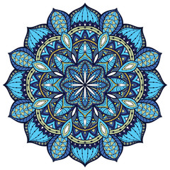 Vector, elegant mandala, with intricate detail.