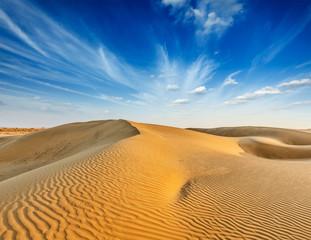 Photo sur Plexiglas Desert de sable Dunes of Thar Desert, Rajasthan, India