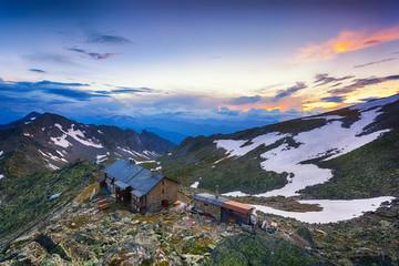 Hut in the Italian Alps