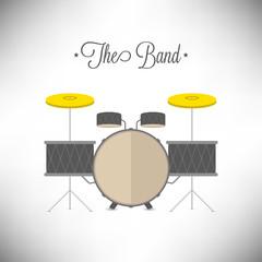 Drum Set flat design vector illustration