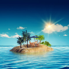 Fotobehang Eiland beauty island in the sea, abstract travel backgrounds