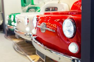 Great red oldtimer vintage car detail