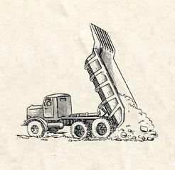End-dump truck