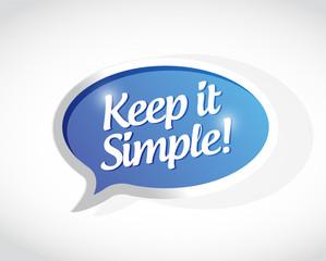 keep it simple message sign illustration