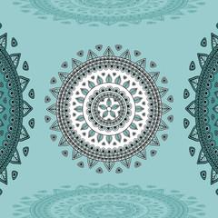 Circular ornament on marine blue Background