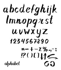 Vector alphabet Hand drawn ink