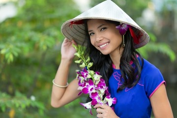 Pretty Vietnamese woman