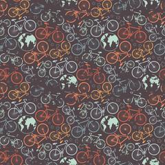 Bicycle grunge pattern