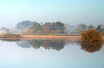 Autumn landscape with lake - 81630537