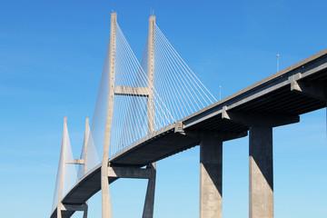 Poster Bridge Suspension bridge at Brunswick, GA