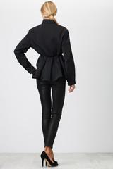 black pants on white