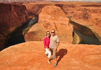 Couple in Arizona Horseshoe Bend
