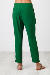 Woman in green pants