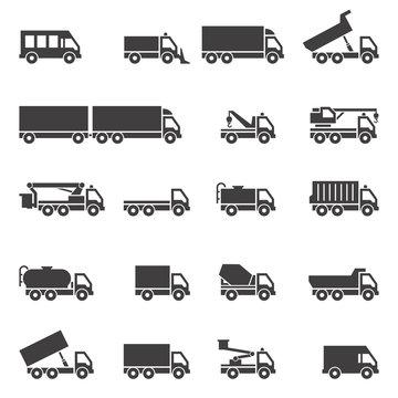 Truck icons set.