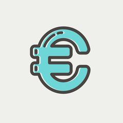 Euro Symbol thin line icon