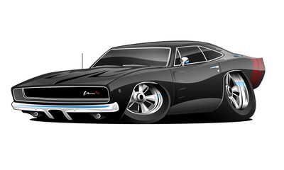 American Muscle Car Cartoon