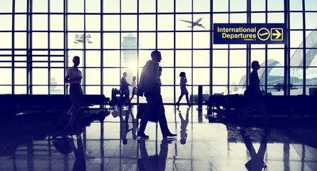 International Terminal Business Travel Transportation Concept