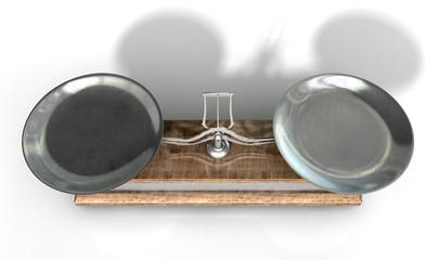 Two Pan Balance Scale
