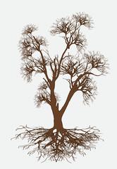 Retro Dead Tree Vector Design