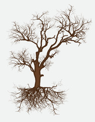 Abstract Dead Tree Vector