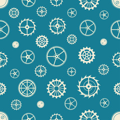 Seamless rusty cogwheel pattern.
