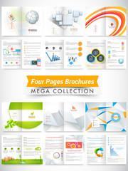 Set of business brochures, flyers or templates design.