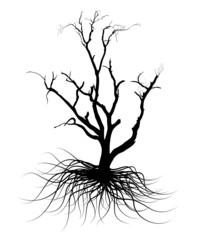 Black Shape Dead Tree Design Element