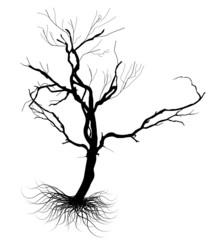 Dead Tree Black Shape Vector