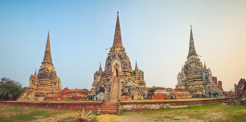 Wat Phra Si Sanphet. Panorama