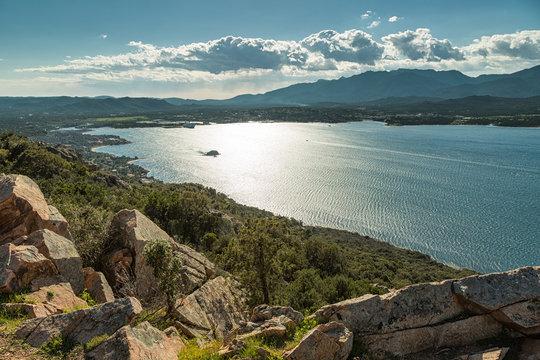 Gulf and town of Porto-Vecchio in south Corsica