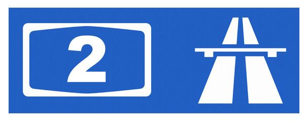 A2-Symbol mit Reflektierung